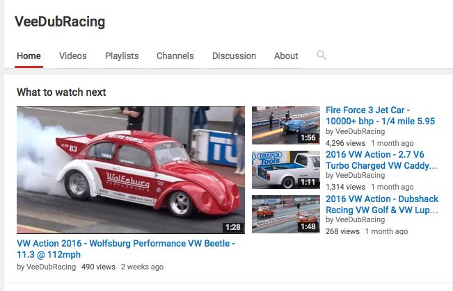 VeeDubRacing videos
